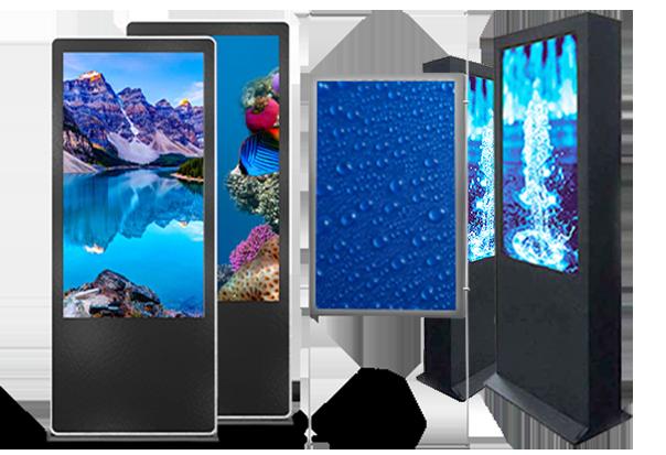 <br>LCD Displays - Indoor, semi-outdoor e outdoor - Digital Donk