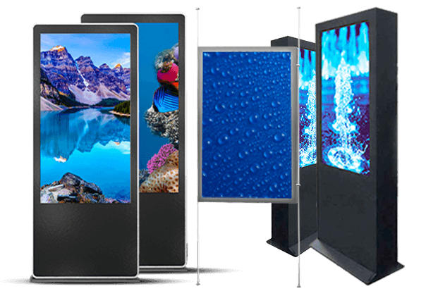 <br>Display LCD  - Indoor, semi-outdoor e outdoor - Digital Donk