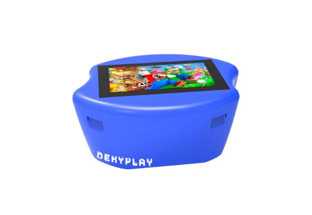 Tavolino interattivo blu
